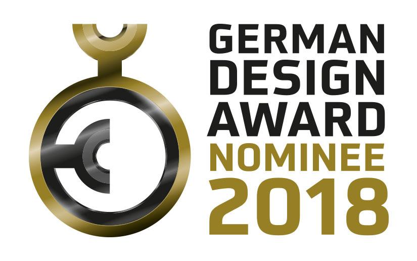 Nominiert für den German Design Award 2018!